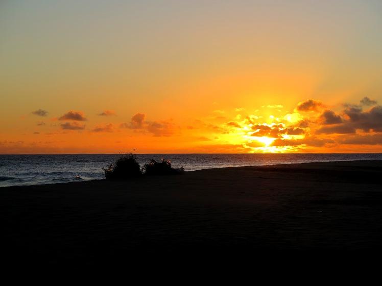 Il Tramonto sulla spiaggia di Ponta Preta